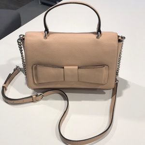 Karl Lagerfield crossbody purse pebbled leather